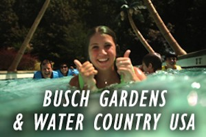 Busch Gardens Williamsburg and Water Country USA Family Vacation Package