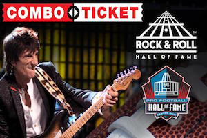 Pro Football Hall of Fame & Rock and Roll Hall of Fame Combo Pass